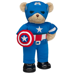 Captain America Happy Hugs Teddy, ready to save the world!