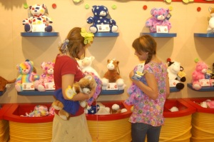 Lilly and Quinnlin picking out their new furry friends