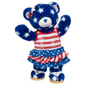 Star Style Teddy in her signature red white and blue dress!