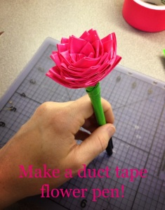 Make a duct tape flower pen!