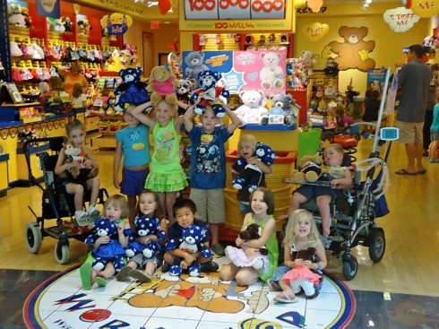 kids from the ronald mcdonald house party in springfield, illinois