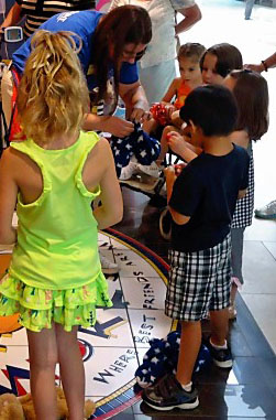 ronald mcdonald house kids putting heart in their bears