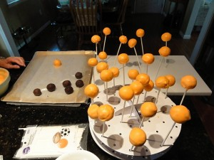 drying your cake pops