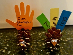 Turkey Pinecone Craft