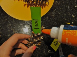 turkey pine cone craft step 5