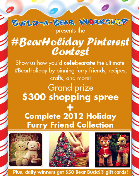 Enter the bear holiday pinterest contest