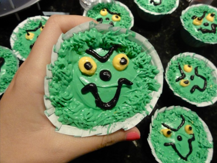 Grinch cupcake recipe